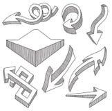 Pijlen royalty-vrije illustratie