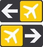 Pijlen aan vliegtuigteken Stock Afbeelding