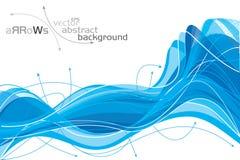 Pijlen - abstracte achtergrond Stock Afbeeldingen