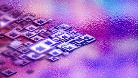 Pijlen als teken van samenwerking in cyberspace vector illustratie