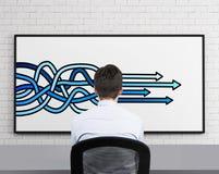 Pijlen die op bureau trekken Royalty-vrije Stock Afbeelding