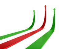 Pijlen die op winst van zaken wijzen vector illustratie