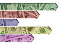 Pijlen die van de munt van de V.S. worden gemaakt Royalty-vrije Stock Fotografie