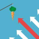 Pijlen die zich aan wortel bewegen Vector Illustratie