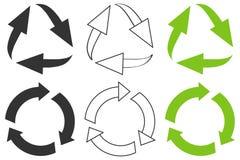 Pijlen in een cirkel Royalty-vrije Stock Afbeelding