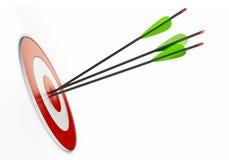 Pijlen en doel Royalty-vrije Stock Foto