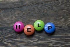 Pijlen en geïsoleerde de knoop 3D grafisch van de Hulp Stock Afbeeldingen