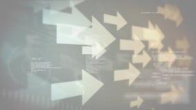 Pijlen en gegevens stock illustratie