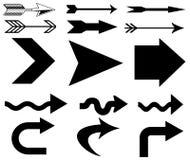 Pijlen en richtingstekens. royalty-vrije illustratie
