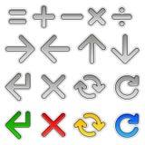 Pijlen en wiskundige tekens Royalty-vrije Stock Fotografie