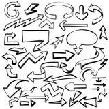 Pijlen geplaatst vectorillustratieschets stock illustratie