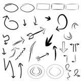 Pijlen, geplaatste kaders Royalty-vrije Stock Afbeelding