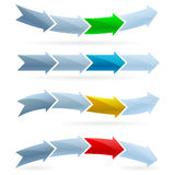 Pijlen. Het concept van de concurrentie Stock Foto