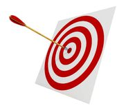Pijlen in het doel Stock Afbeelding