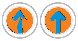Pijlen met cirkel Royalty-vrije Stock Foto's