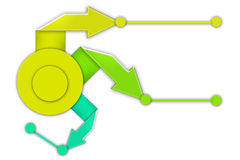 pijlen met cirkel, abstrack achtergrond Stock Afbeeldingen