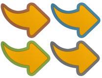 Pijlen met Golfdocument ambacht Royalty-vrije Stock Afbeelding