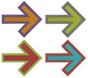 Pijlen met Golfdocument ambacht Stock Afbeeldingen