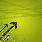 Pijlen op groene achtergrond Stock Afbeeldingen
