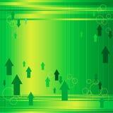 Pijlen op Groene Achtergrond Stock Foto
