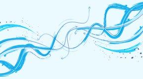 Pijlen op motie abstracte achtergrond Stock Foto
