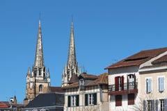 Pijlen van Bayonne-Kathedraal Royalty-vrije Stock Fotografie