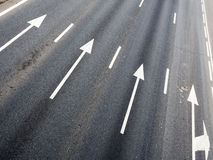 Pijlen van een weg Royalty-vrije Stock Afbeelding