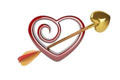 Pijlen van liefde Stock Foto's