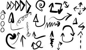 Pijlen van verschillende types royalty-vrije stock afbeeldingen
