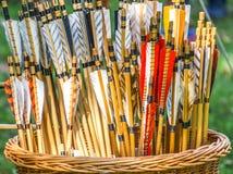 Pijlen voor boogschieten, het schieten van de schachten, abstract beeld Stock Foto's