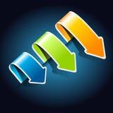Pijlen voor uw () Web-pagina Stock Fotografie
