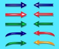 Pijlen, wijzers, navigatie voor uw ontwerp stock illustratie