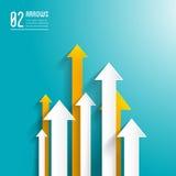 Pijlenachtergrond - grafisch ontwerpmalplaatje Royalty-vrije Stock Afbeelding