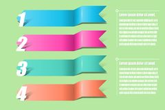 Pijleninfographics Malplaatje voor diagram, grafiek, presentatie a Stock Fotografie