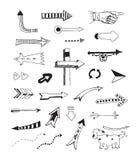 Pijleninzameling royalty-vrije illustratie