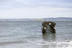 Pijler aan Alcatraz-Eiland in San Francisco Royalty-vrije Stock Fotografie