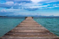 Pijler in alcudia Mallorca royalty-vrije stock fotografie
