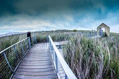 Pijler bij Alvisio-Jachthaven stock afbeeldingen