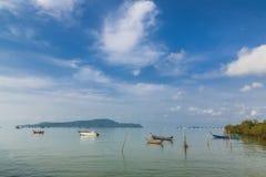Pijler bij Chalong-Baai, Phuket, Thailand Stock Fotografie
