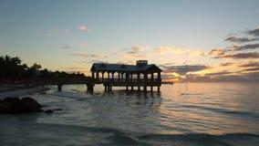 Pijler bij het strand in Key West stock footage