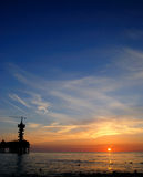Pijler bij zonsondergang Royalty-vrije Stock Foto