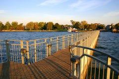 Pijler bij zonsopgang Stock Fotografie