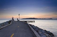 Pijler bij zonsopgang, oostelijk Thailand Royalty-vrije Stock Foto