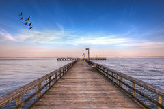 Pijler in Chesapeake Stock Fotografie