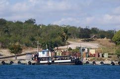 Pijler, Cienfuegos-Baai, Cuba royalty-vrije stock fotografie