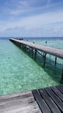 Pijler in de Maldiven Stock Foto's
