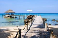 Pijler in eilandKoh Kood Royalty-vrije Stock Foto's
