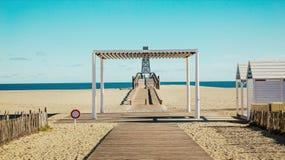 Pijler in Haven Leucate Royalty-vrije Stock Foto