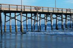 Pijler-Horizontaal New Port Beach Royalty-vrije Stock Afbeelding