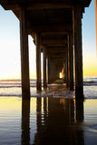 Pijler in La Jolla, CA stock foto's